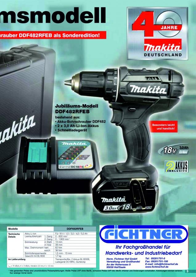 Berühmt Infos, Innovationen und Tipps von Makita | Herm. Fichtner Hof GmbH HY61