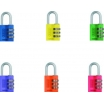 Vorhangschloß 145/40 Color Rainbow SB blau, gelb, grün, lila, orange oder rot