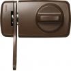 Tür-Zusatzschloß mit Sperrbügel 7030 B/SB braun