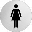 Hinweisschild, Edelstahl, 1 mm Nr. 8472, Damen