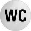 Hinweisschild, Edelstahl, 1 mm Nr. 8480, WC