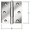 Scharnier gerollt, kantig V2A 75x75x2,5 mm