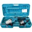 Makita 2 Winkelschleifer im Koffer: GA9020R, 230mm 2200W, 6600 min-1 und: 9558NBR, 125mm, 840W, 11000 min-1, 1 Schruppscheibe 125mm, Transportk.