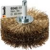 KWB Holzstrukturbürste, HSS Stahldraht, vermessingt, Draht-R0,27, Breite 40, Scheiben-R 80, Schaft 8mm