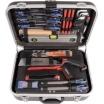 Projahn Werkzeugkoffer-Schreiner 92 teilig, Hartschalenkoffer 460x340x145mm 2 Werkzeugtafeln, 2 Schlösser