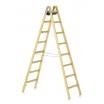 Zarges-Holzsprossen-Stehleiter 2 x 7 Sprossen