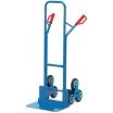 Fetra Treppenkarre TK 1326 Stahlrohr/2-dreiarmige Radsterne Vollgummi 160x40mm/Höhe 1300mm