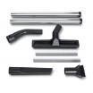 Fein Zubehörset Bau für Dustex-Sauger, 2 Saugrohre (Metall-Ausf.), 1 Kombidüse mit Wechseleinsätze, 1 Fugendüse, 1 Saugpinsel, 1 Krümmer